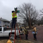 College Grove Sign Topper Installation